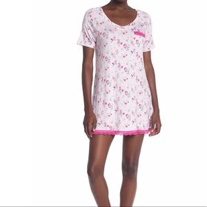 Flowered nightshirt with lace NWT S or L